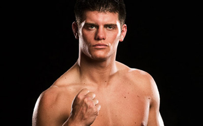 Which video game series is the logo on Cody Rhodes' boots from? (as of October '08)