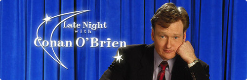 Who was Conan's very first guest on Late Night?