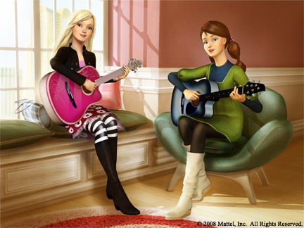 What song do barbie and Teresa start the movie off with?