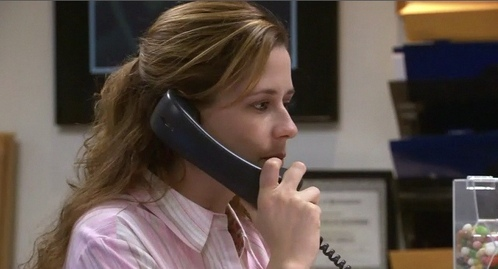 FINISH THE QUOTE! Pam: Sometimes I don't put Michael through until he's already said something. I look at it as a...