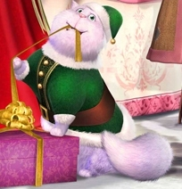 """What is the name of Eden Starling's cat in """"Barbie in a Christmas Carol""""?"""