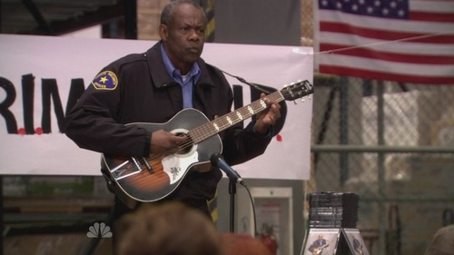 What is Hank the security guard's last name?