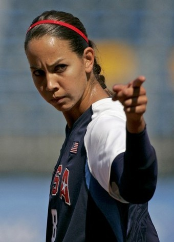 What jersey number does Cat Osterman wear?