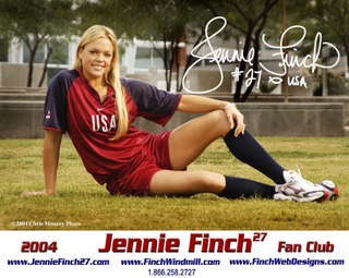 What sports equipment company does Jennie Finch have a line of gloves, batting gloves, bats, cleats etc. with?