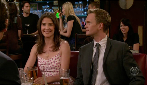 What is Cobie's favourite Barney Stinson entrance on How I Met Your Mother?