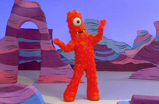 What is the name of the red character on Yo Gabba Gabba?