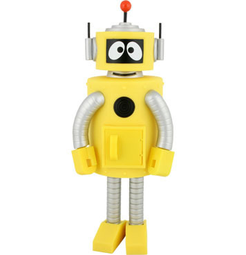 What is the name of the Yellow Robot on Yo Gabba Gabba?