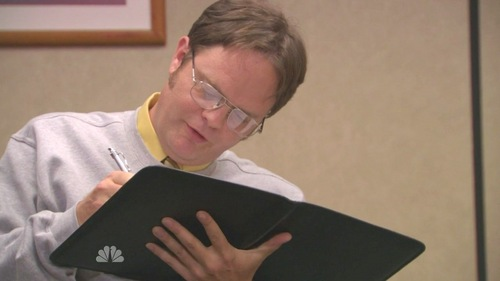 "What ""vastly superior"" college does Dwight threaten to apply to during his Cornell interview with Andy?"