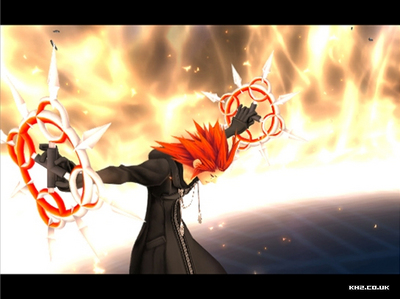Which was one of Roxas's command at the haunted mansion in the fight with Axel?