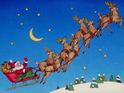 "On natal Eve, what American government agency ""tracks"" Santa's sleigh?"