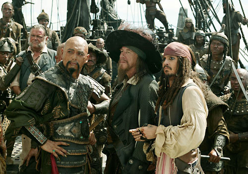 does captain barbosa appear in the second moveie at all ?