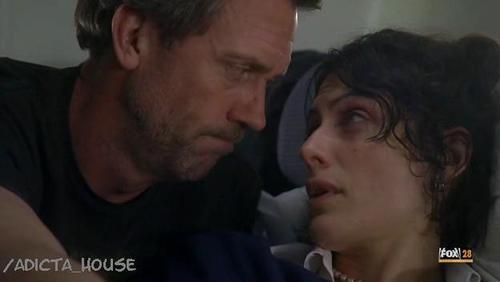 In which one of these episodes did House and Cuddy NOT make some kind of physical contact?