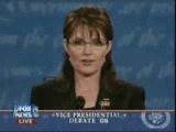 What did Sarah say to Joe Biden in the beginning of the vp debate?