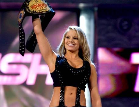 How many times did Trish Stratus win the WWE Women's Championship?