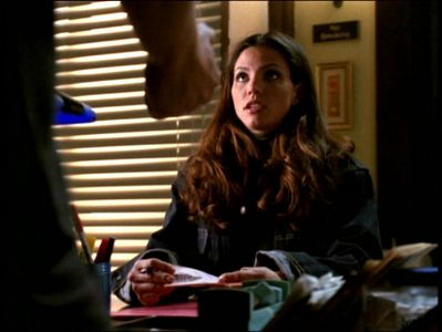 True or False: On this scene Cordelia brought out that Angel had bags under his eyes.