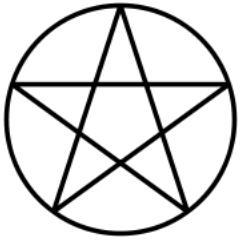 Which of the following is NOT true about the pentagram?