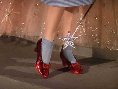 What was the original color of Dorthy's ruby slippers?