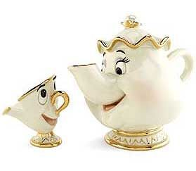What is the name of Mrs. Potts' kid?