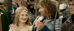Where did Eowyn and Faramir first meet?