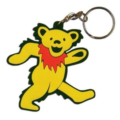 What band's dancing bear logo is on this keychain?
