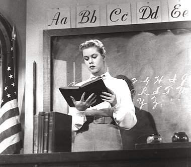 Elizabeth in a scene from the 1955 film The Court-Martial Of Billy Mitchell?