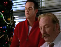 In Mr. Monk and the Secret Santa, what Christmas song do Captain Stottlemeyer and Randy Disher perform at the office Christmas party?