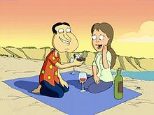 In season four. quagmire irrationally fell in love and got married, who was the bride? (no spoilers)
