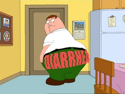 Apart from Diarrhea what else does Peter have?