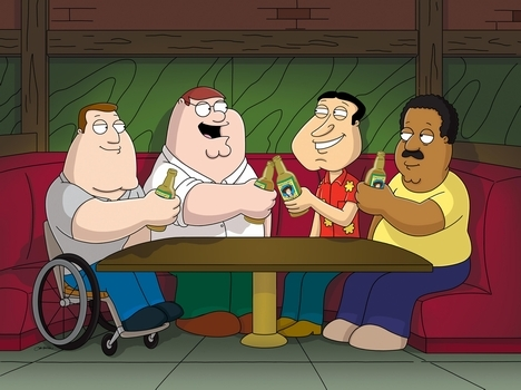 "what journey song do Cleveland, Joe, Peter and Quagmire sing in the episode ""Don't Make Me Over"