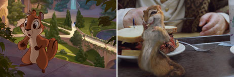 This character is small but a strong  chipmunk, and he will do what ever it takes to help prince Edward find Giselle