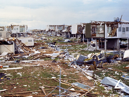 Shortly after midnight on Christmas Day 1974, Darwin,N.T. Australia was swept by a cyclone that levelled most of the city.
