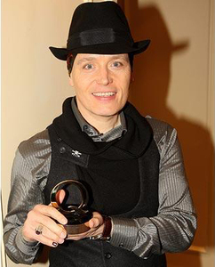 Adam with his award