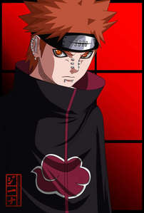 akatsuki leader Pein(scary but he has a goodside)