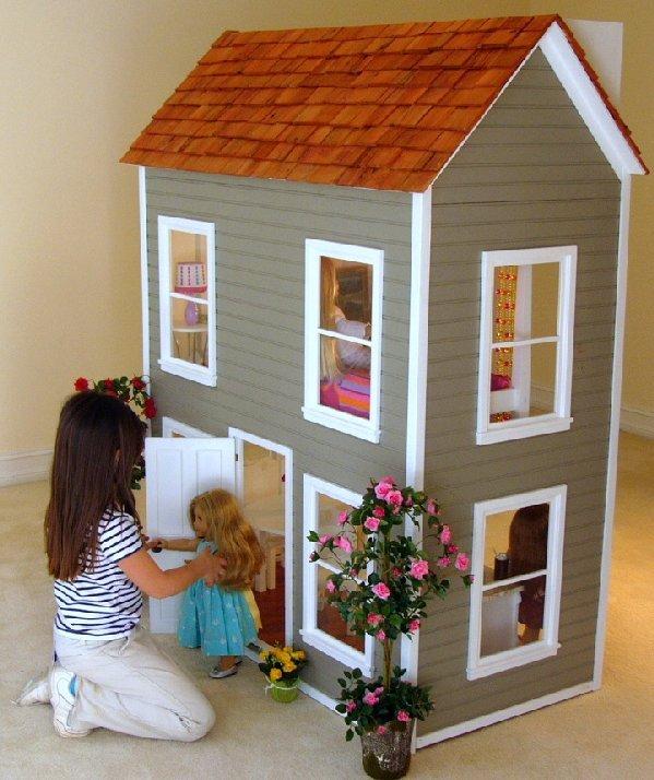 "e608b1a5e92 A custom made Dollhouse, made especially for 18"" Dolls such as American  Girl, ..."