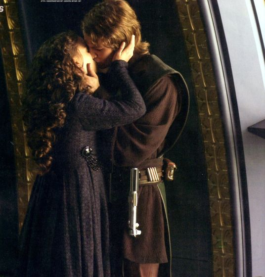 After their talk Padmé kisses her husband passionately hoping to wipe away all of his conerns