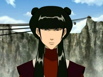 5.Mai she is sleek some people think she's ugly but if she was ugly she wouldn't of have a chance with Zuko she is beautiful and she is different from most I like different but she always has that same wierd hair style and barly makes a facial expression