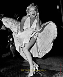 "Movie actress Marilyn Monroe was known as a sex symbol and ""blonde bombshell."" She's best known for her glamour, her comedic wit, and iconic portrayals of ""dumb blondes."""