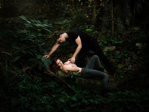 Bella and edward in the forest