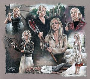 Buffy in all seven seasons