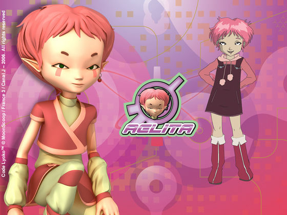 2.Aelita she's not just beautiful she's stunning she has beautiful 粉, 粉色 hair beautiful green eyes and lonely skin why 2 her hair is too short