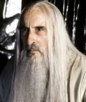 Christopher Lee as Saruman in the New Line Film