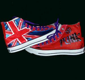 punk english flag chucks