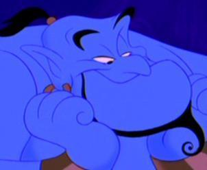 "4. Genie (Aladdin) Positive: kind, funny, selfless, knows lots of cool magic trick, voiced by Robin Williams Negative: trapped in an ""itty bitty livin' space"", very dangerous in the wrong hands"