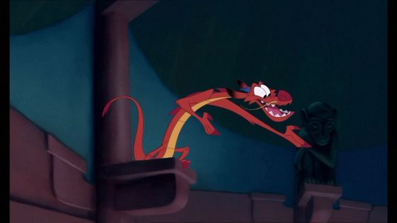 3. Mushu (Mulan) Positive: nice, funny, somewhat heroic, voiced by Eddie Murphy Negative: can be a little selfish