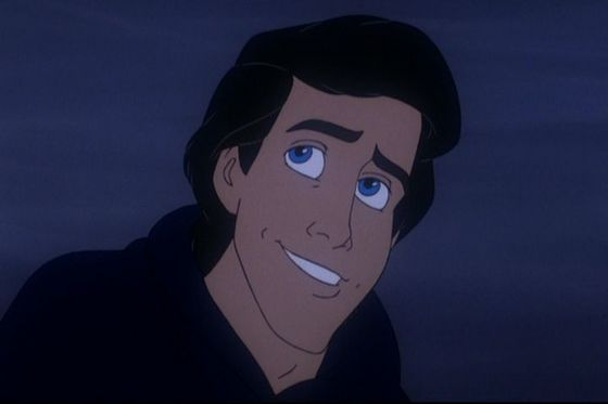 1. With his GORGEOUS blue eyes, wavy black hair, and the way he risks his life to save Ariel, Prince Eric may not have much a personality, but he's the number one hottie animated guy for me. I amor YOU, PRINCE ERIC!