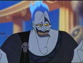 "Hades: turns his nephew mortal and tries to kill him, so that he can be ""head god""."