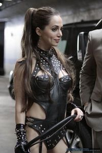 Promotional image of Echo as her dominatrix imprint