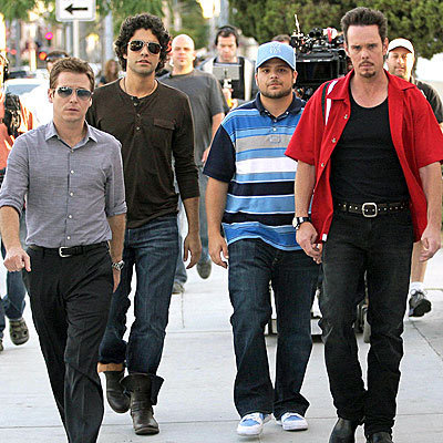 Kevin Connolly, Adrian Grenier, Jerry Ferrara and Kevin Dillon are heading towards the best season of Entourage yet!