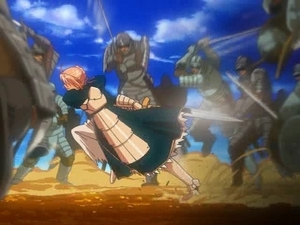 "Arturia fighting with here ""loyal"" knights. The ones that betrayed her..."
