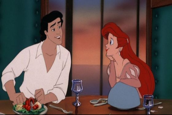 Ariel and Eirc are like Giselle and Robert only Giselle's hair is lighter red